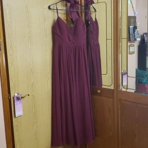Hayley Paige Burgundy Dress